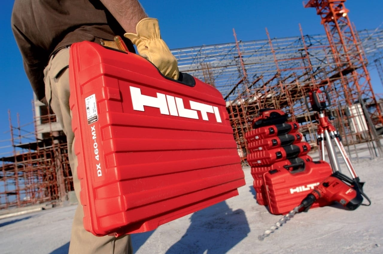 Mallette Hilti DX 460-MX sur un chantier