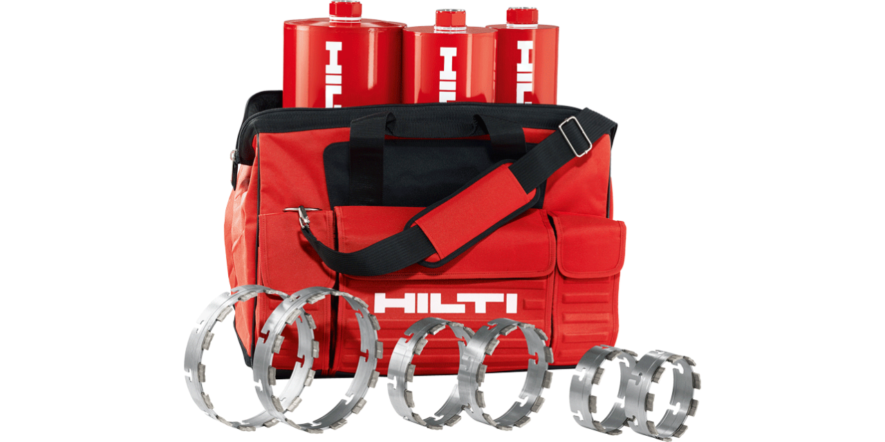 Couronne de forage diamantée H-line et ring X-CM Hilti