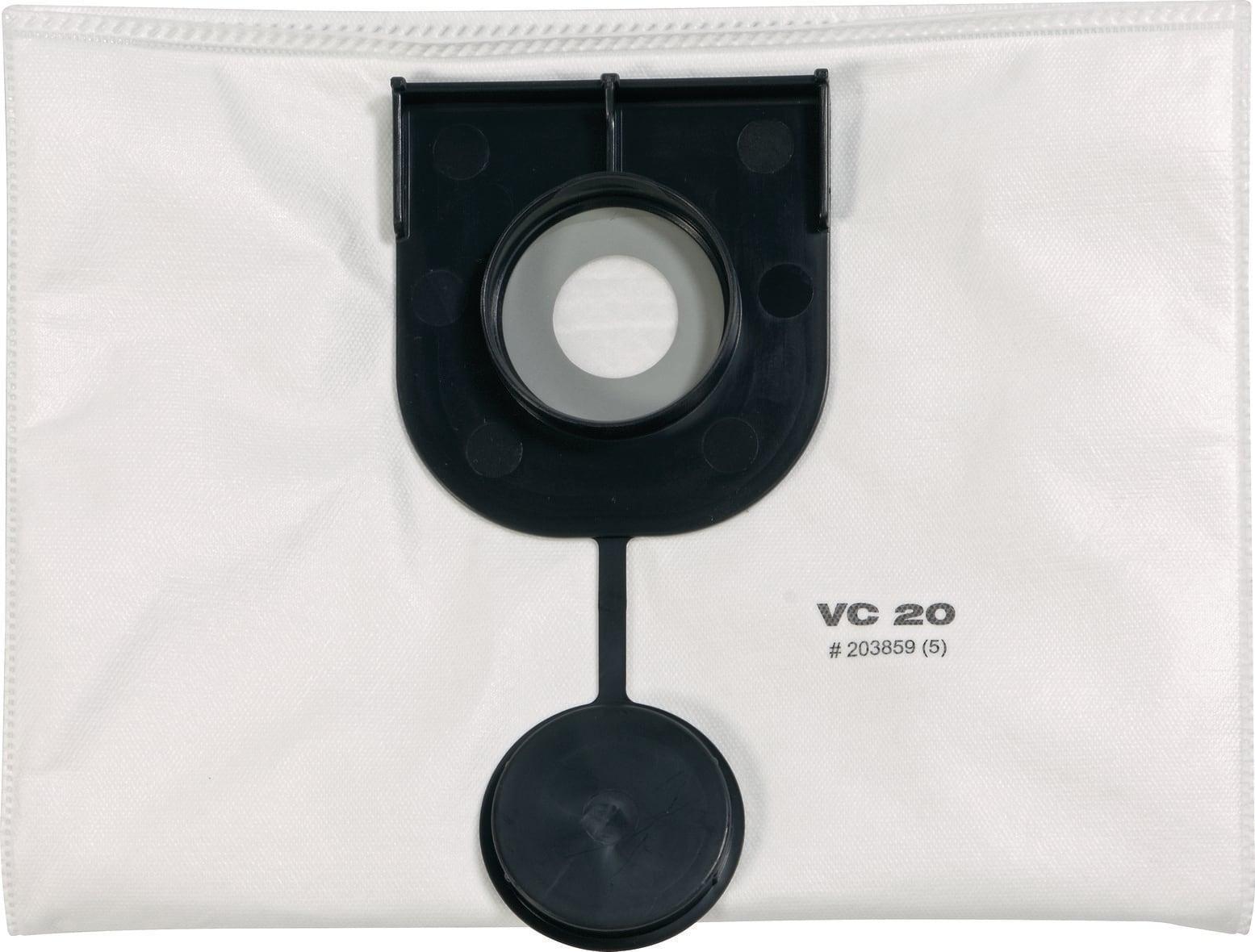 5 sacs pour aspirateur 1 Filtres pour Hilti vc20 et vc40 plat Filtre Plissé VC 20 40
